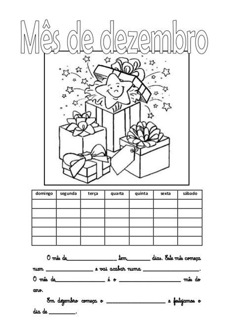 Calendario Dezembro Calend 225 Do M 234 S De Dezembro Para Preencher