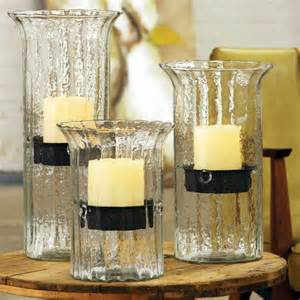 ribbed glass candle hurricanes from kalalou