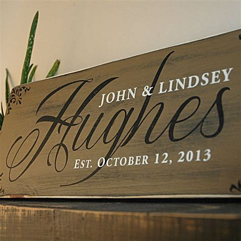 handmade family last name sign established sign rustic
