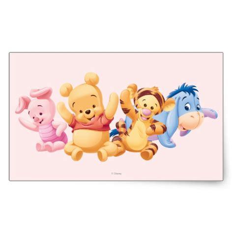 baby winnie the pooh friends baby winnie the pooh friends rectangular sticker
