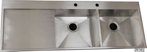 rachiele stainless steel sinks custom stainless steel sink mount and workstation