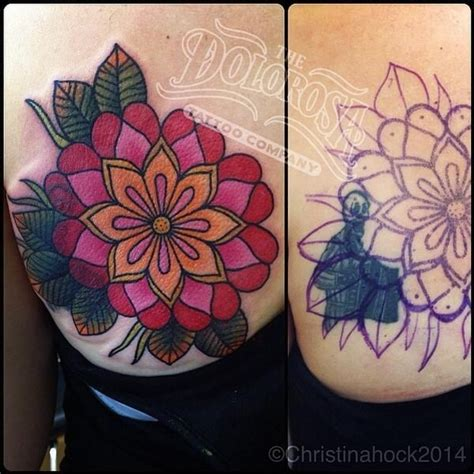 tattoo cover up geometric geometric flower as cover up tattoos pinterest