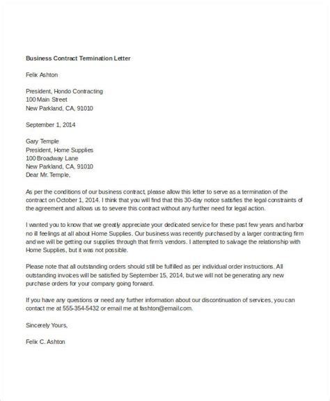 Sle Letter Of Contract Worker Vendor Contract Cancellation Letter 28 Images Sle Agreement Letter For Vendor Letter Sle