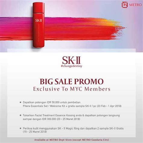 Sk Ii Di Metro sk ii big sale metro dept store indonesia