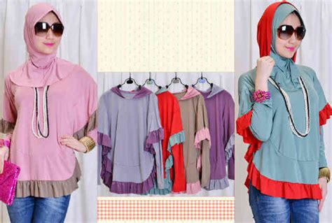 Bergo Size M Jersey capria outlet blouse kapuchong jersey inner bergo