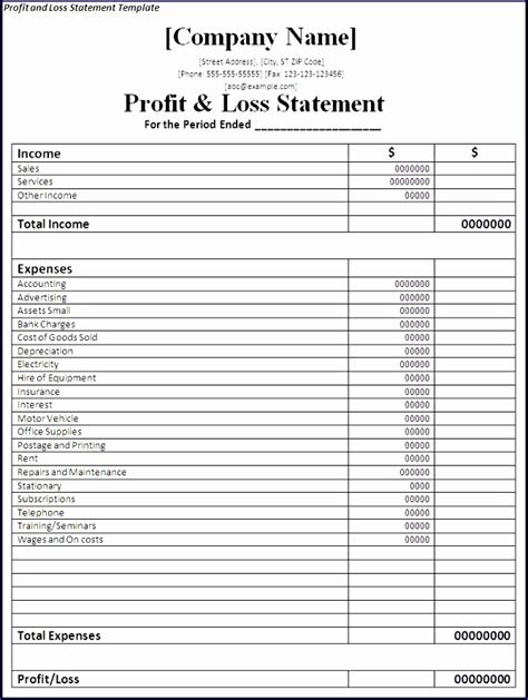 restaurant income statement template excel 10 restaurant income statement template excel