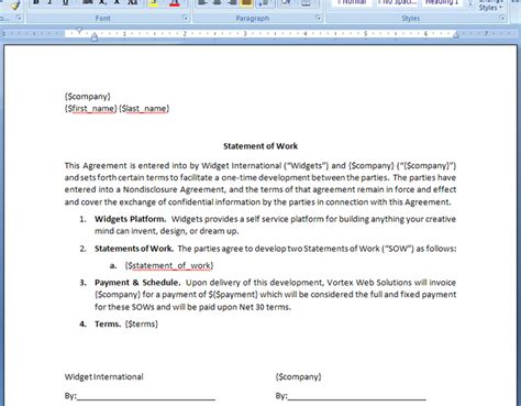generate a statement of work agreement from base crm deal