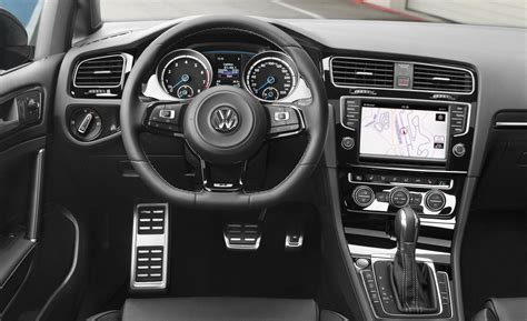 volkswagen golf interior car and driver