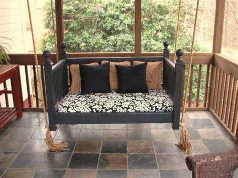Repurpose Baby Crib by Repurposed Crib Into Porch Swing Source