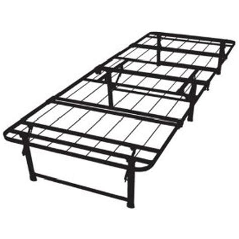Foldable Metal Bed Frame with Size Duramatic Steel Folding Metal Platform Bed Frame Fastfurnishings