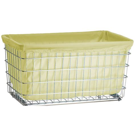 R B Wire 241 Wire Frame Metal Laundry Cart Nylon Basket Laundry Liners