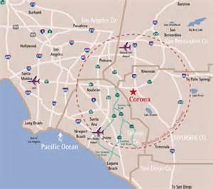 map of corona california corona california map images