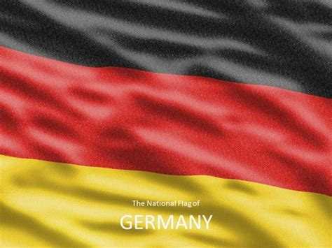 German Flag Template Germany Powerpoint Template