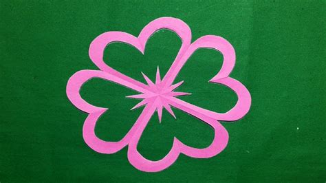 How To Make Flowers By Paper Cutting - how to make simple easy paper cutting flowers paper
