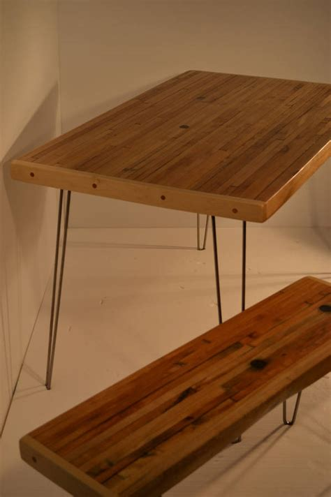 small dining table reclaimed maple hairpin legs by
