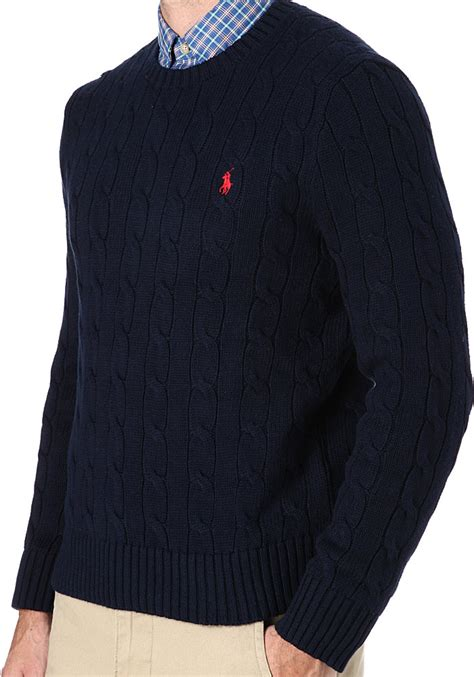 ralph cable knit jumper navy ralph navy cable knit jumper mens sweater vest