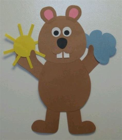 groundhog day crafts ground hog day school craft ideas