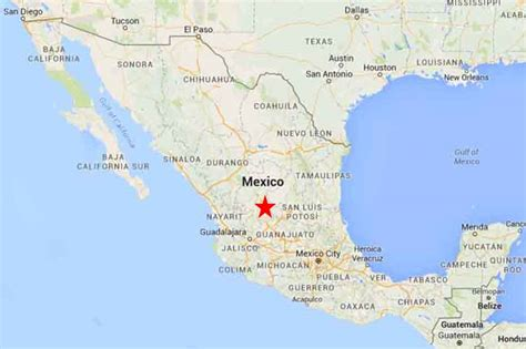 map of mexico zacatecas where is zacatecas mexico on a map mexico map