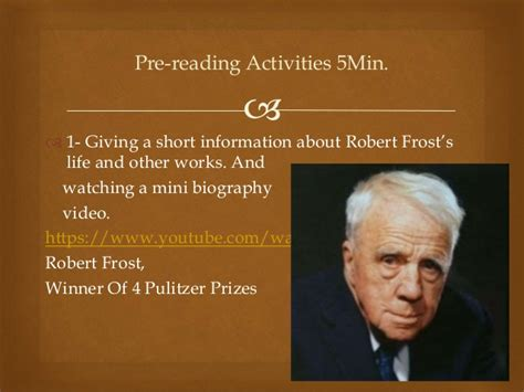 robert frost biography for students nothing gold can stay