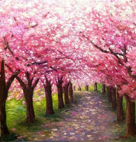 paint nite japanese cherry blossoms 40 easy canvas painting ideas for