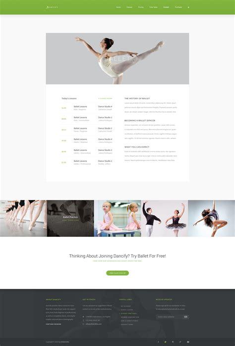 blogger themes dance dancify dance studio psd template by artisticfella