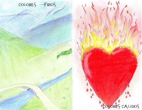 imagenes de corazones frios dibujos de paisajes de colores calidos imagui