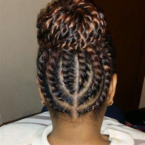 flat twist bun hairstyles flat twist senegalese bun twist pinterest flat twist