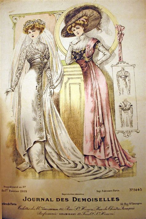 victorian pattern history 1909 february wedding gown inspiration exquisite history