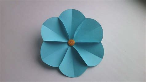 How To Make Simple Crafts With Paper - how to make a simple paper flower diy crafts tutorial