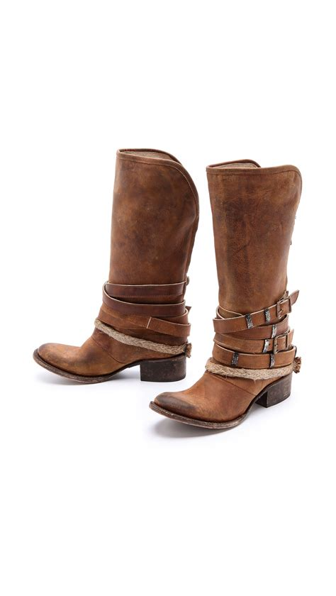 free bird boots freebird by steven drover wrap boots in brown