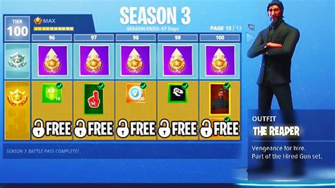 fortnite tier 100 challenges unlocking max battle pass for free season 3 tier 100
