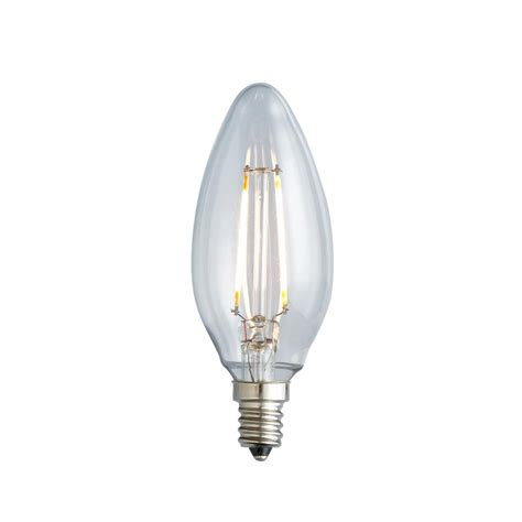 Led Clear Light Bulbs Archipelago 25w Equivalent Warm White B10 Clear Lens Nostalgic Candelabra Blunt Tip Dimmable Led