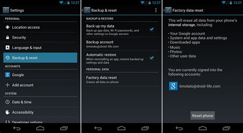 how to factory reset android android beginners guide archives page 2 of 6 droid