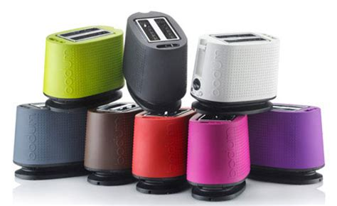 Colored Toasters Design Ideas with Colorful Bistro Toaster By Bodum Modern Home Decor