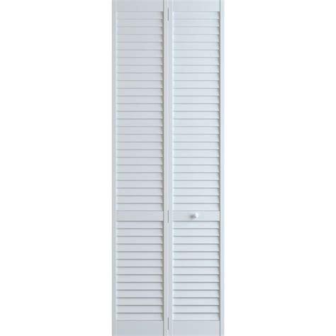 36 Bifold Closet Doors Frameport 36 In X 96 In Louver Pine White Plantation Interior Closet Bi Fold Door 3115283