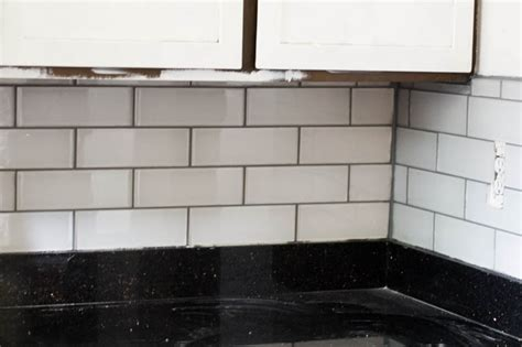 installing subway tile backsplash in kitchen installing subway tile backsplash duo ventures kitchen