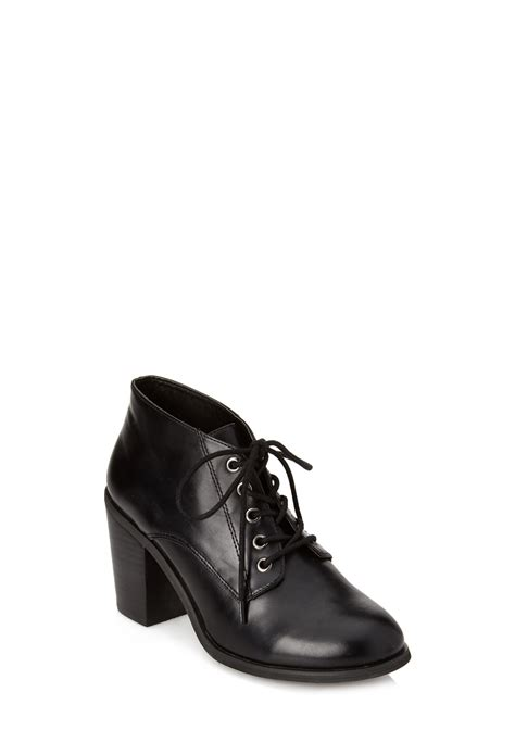 forever 21 ankle boots forever 21 lace up ankle boots in black lyst