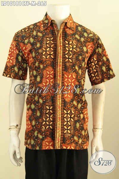 Baju Batik Pria Motif Kalijagalengan Pendek model baju batik pria lengan pendek bahan halus motif unik