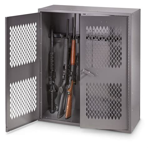 storage lockers and cabinets hq issue metal gun locker 36 quot w x 42 quot h 662978 gun