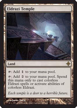 Eldrazi Deck Mtg by Rise Of The Eldrazi Eldrazi Temple Five With Flores