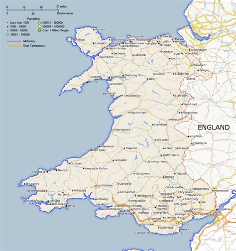 printable road map of england and wales england and wales map