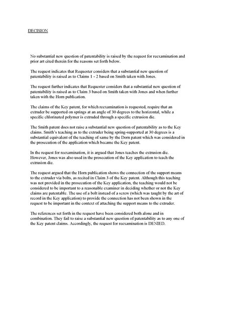 Insurance Excess Letter Chapter 2200 Citation Of Prior And Ex Parte Reexamination Of Patents Fpo Resources