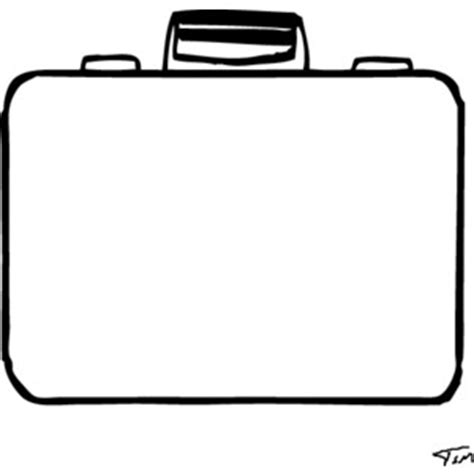 blank suitcase template clipart best