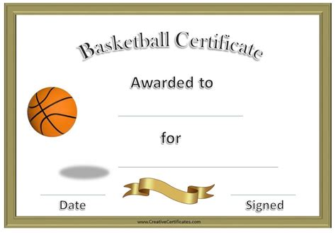 free basketball templates free editable basketball certificates customize