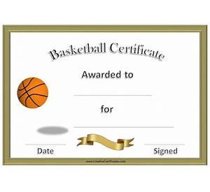 Basketball certificate template for word image collections 60 microsoft word basketball certificate template good resume free certificate of participation template for word 2013 yadclub Images