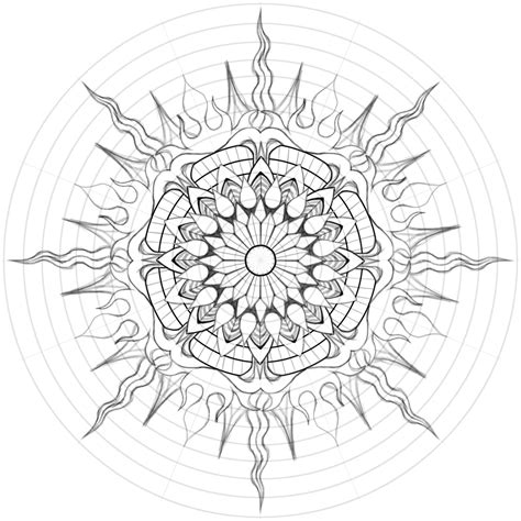 mandala sun tattoo deco water mandala by gabe mcginn skillshare