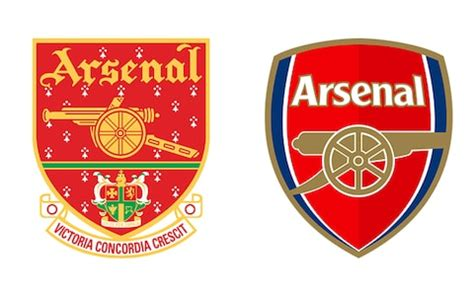 arsenal badge arsenal badge redesign the worst ever sporting rebrands
