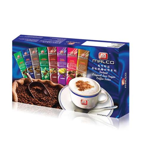 White Coffee 1 Pack malco 8 flavors white coffee business tourist gifts pack