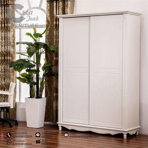 Model2 Baju Tidur lemari pakaian sliding duco putih createak furniture