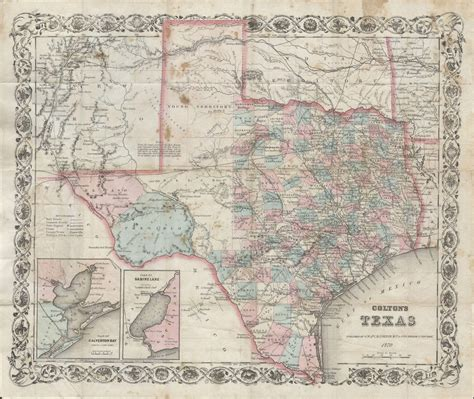 1800 texas map file 1870 colton pocket map of texas geographicus texaspkt colton 1870 jpg